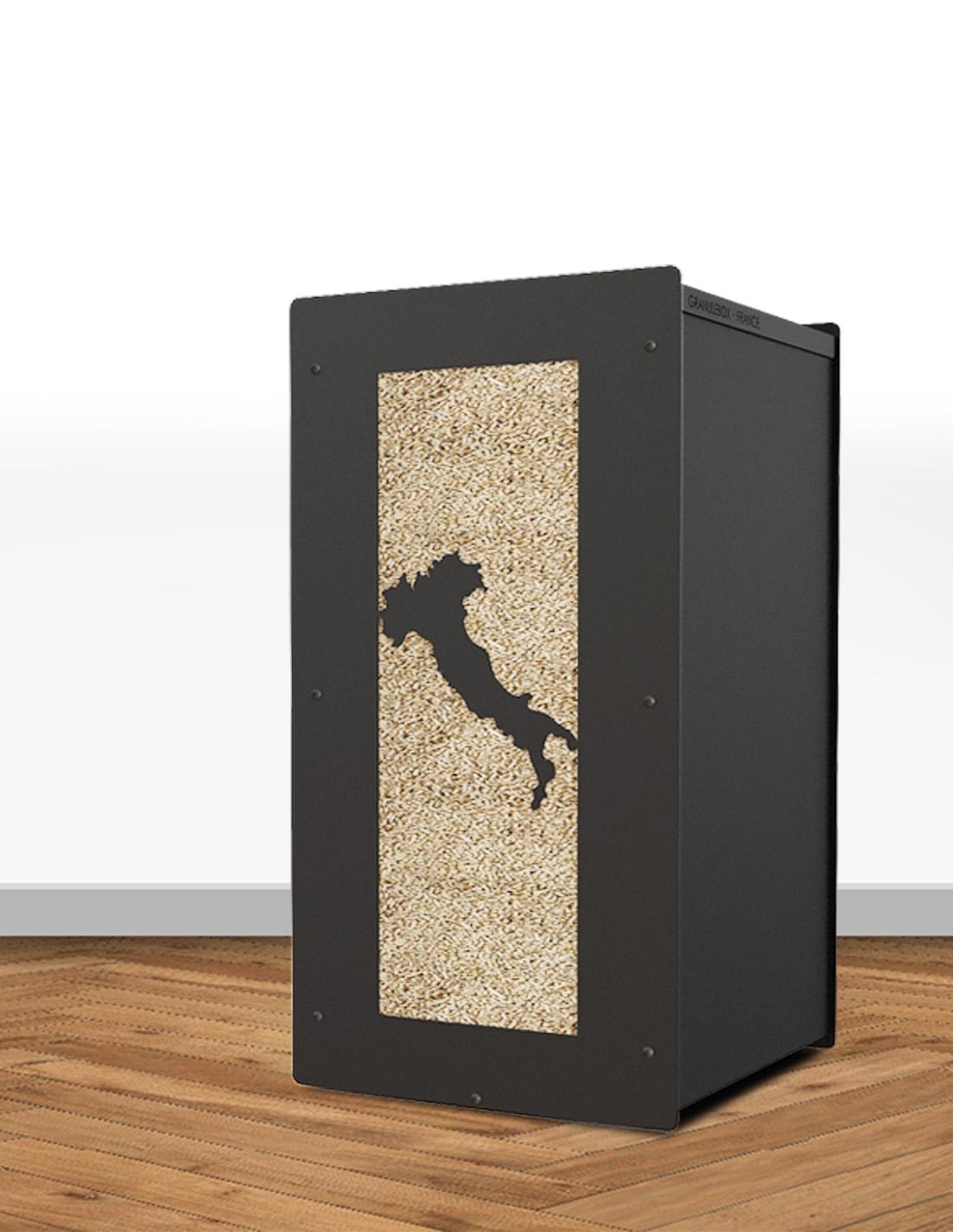 Un Stockage De Pellet Unique Et Design Pour Son Interieur A Marseille Meubles De Rangement Et Stockage Pour Granules De Bois A Lyon Granule Box